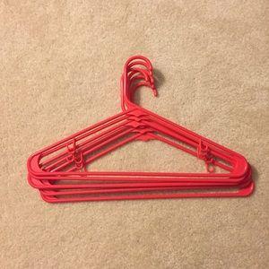 Pink hangers